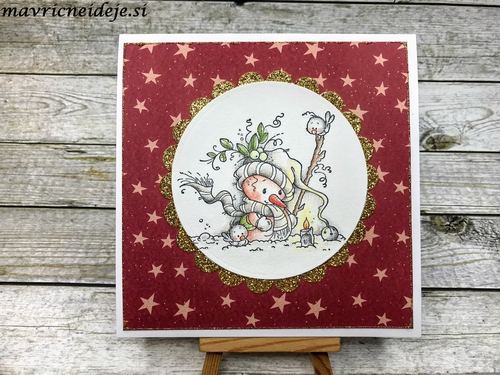 Whimsy Stamp Candle Light card