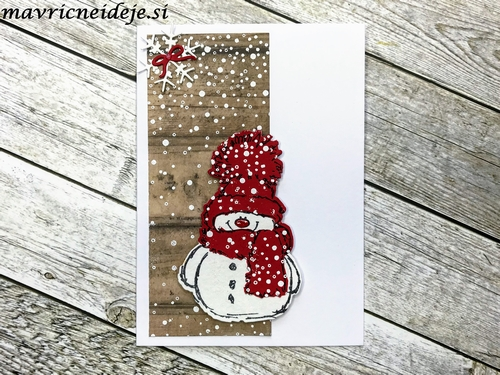Penny Black Snowy in red card
