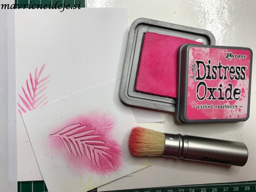 Disress oxide picked raspberry