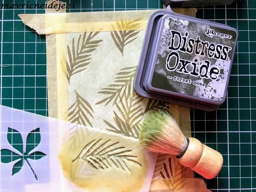 Distress oxide forrest moss background 2