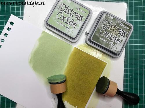 distress oxide bundled sage, forest moss