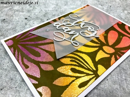 1 Stencil&clear embossing&distress oxide