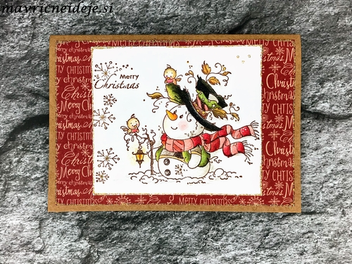 Whimsy Stamp Mr Frosty handmade card