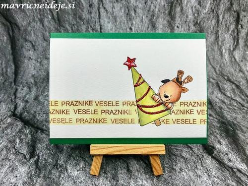 Zelena voščilnica s kužkom